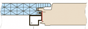 Схема скрытого стыка замка