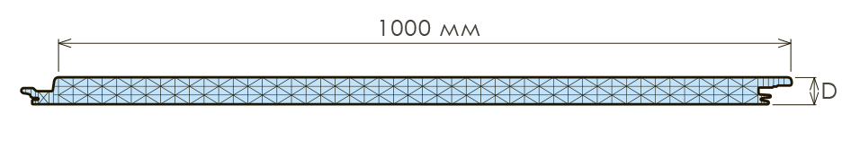 Внешний профиль замка для панелей