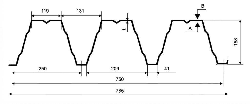 Несущий профнастил Н 158-750