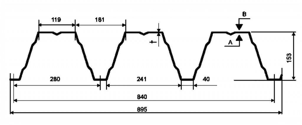Несущий профнастил Н 153-840