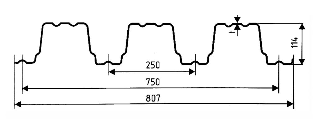 Несущий профнастил Н 114-750