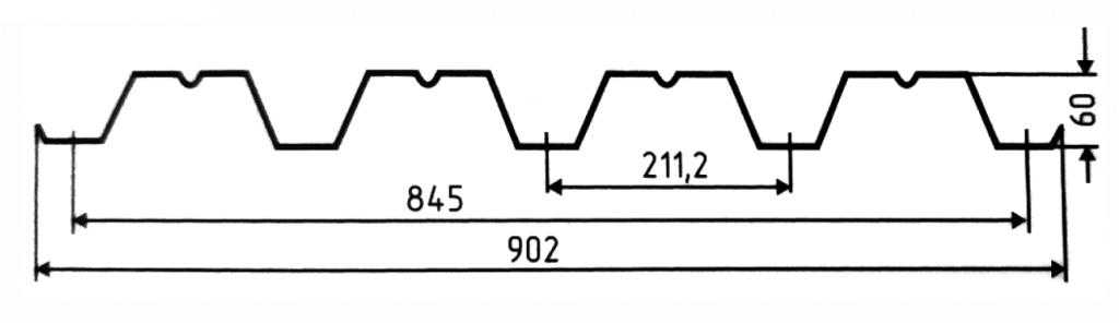 Несущий профнастил H 60-845