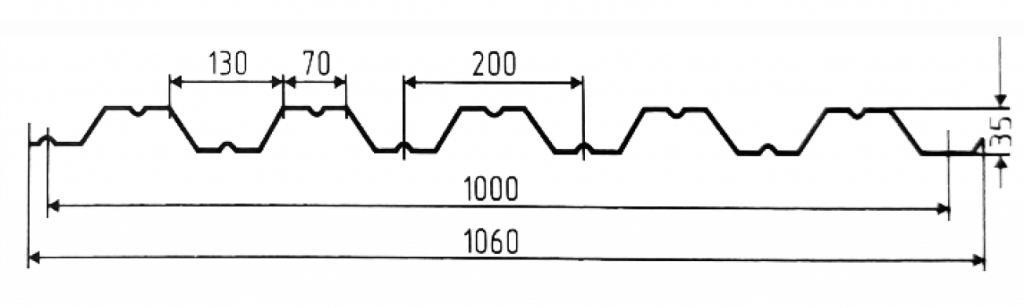 Стеновой профнастил НС 35-1000